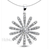 18K White Gold Fashion Pendant P1286
