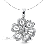 18K White Gold Fashion Pendant P1287