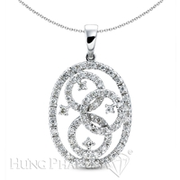 18K White Gold Fashion Pendant P1288