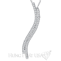 18K White Gold Fashion Pendant P1232