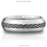 Scott Kay Cobalt 7mm Native Dome Band SK-C3048BC7