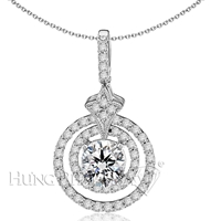 18K White Gold Diamond Pendant P1289