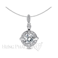 18K White Gold Diamond Pendant Setting P1270
