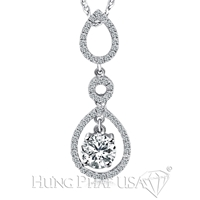 18K White Gold Fashion Pendant P1283