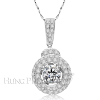 18K White Gold Diamond Pendant P1294