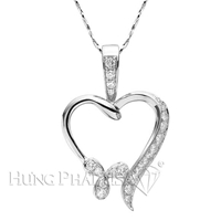18K White Gold Fashion Pendant P1309