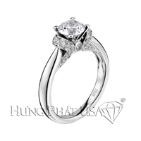 Scott Kay Traditional Round Engagement Ring Setting M1691R310-$500 GIFT CARD INCLUDED WITH PURCHASE