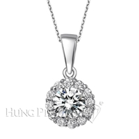 18K White Gold Diamond Pendant P1591