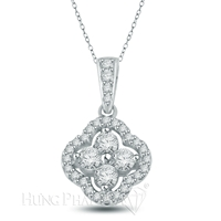 18K White Gold Diamond Pendant P1592