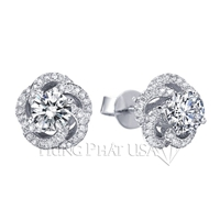 Diamond Stud Earrings Setting E1368
