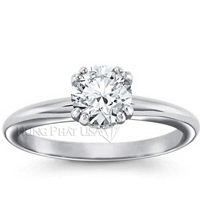 Sweetheart Solitaire Engagement Ring Setting BN08116