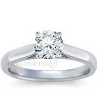 Tapered Cathedral Engagement Ring Setting BN04122