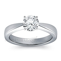 Classic Tapered Four Prong Engagement Ring Setting BN12962