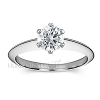 Knife Edge Nouveau Solitaire Engagement Ring Setting BN20317