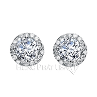 Diamond Stud Earrings Setting E2255A
