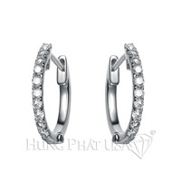 Diamond Hoop Earrings E2262F