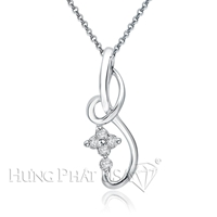 18K White Gold Diamond Pendant P1231