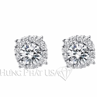 Diamond Stud Earrings Setting E2283