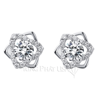 Diamond Stud Earrings Setting E2286