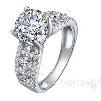 Diamond Engagement Ring Setting Style B2935