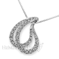 18K White Gold Fashion Pendant P2019