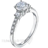 Scott Kay Petite Sidestone Engagement Ring Setting SK M1080RD-$500 GIFT CARD INCLUDED WITH PURCHASE