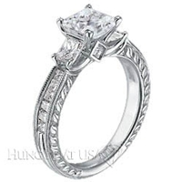 Scott Kay Vintage Crown Engagement Ring Setting M1149QD10-$1000 GIFT CARD INCLUDED WITH PURCHASE