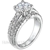 Scott Kay Triple Paved Engagement Ring Setting SK M1105RD-$1000 GIFT CARD INCLUDED WITH PURCHASE