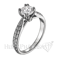 Scott Kay Engraved Round Engagement Ring Setting SK M1125RD07-$300 GIFT CARD INCLUDED WITH PURCHASE