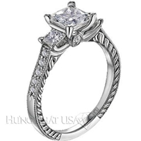 Scott Kay Crown Princess Engagement Ring Setting SK M1148QR310-$300 GIFT CARD INCLUDED WITH PURCHASE