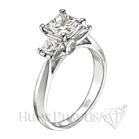 Scott Kay Three-Stone Engagement Ring Setting SK M1164QD10-$700 GIFT CARD INCLUDED WITH PURCHASE