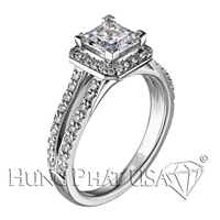 Scott Kay Split Shank Engagement Ring Setting SK M1257RQ510-$700 GIFT CARD INCLUDED WITH PURCHASE
