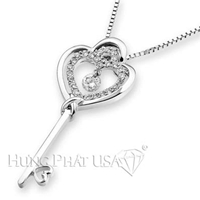 18K White Gold Fashion Pendant P2405