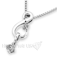 18K White Gold Fashion Pendant P2372