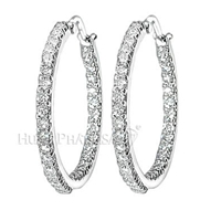 Diamond Hoop Earrings E1984