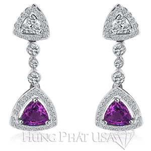 Purple sapphire and diamond Earrings E0443