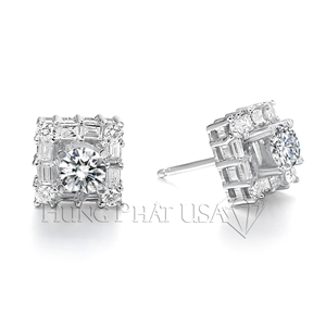 Diamond Stud Earrings Setting Style E0350