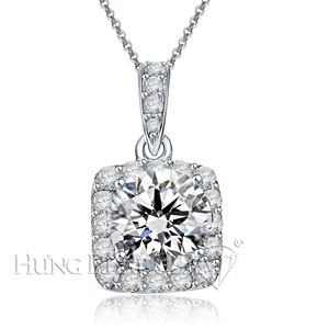 18K White Gold Diamond Pendant Setting P1535E