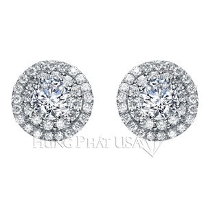 Diamond Stud Earrings Setting E8672