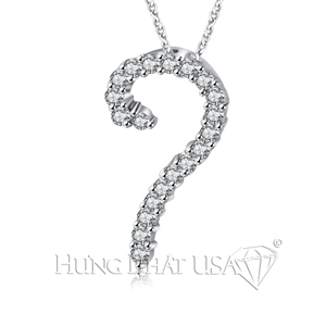 18K White Gold Diamond Pendant P18067
