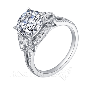Diamond Engagement Ring Setting Style B2858
