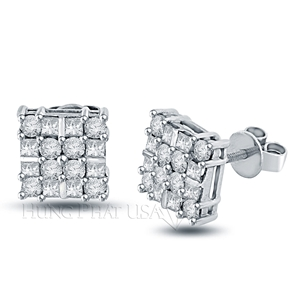Diamond Stud Earrings Style HP01221
