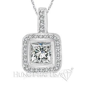 18K White Gold Diamond Pendant P1302