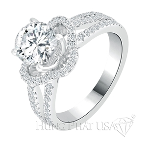 Diamond Engagement Ring Setting Style R90343