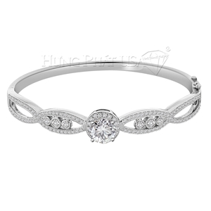 18K White Gold Diamond Bangle Setting Style G1467