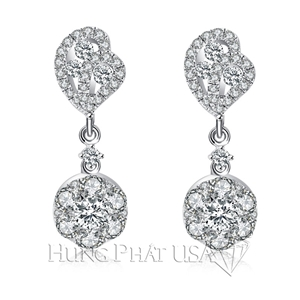 Diamond Dangling Earrings E10261